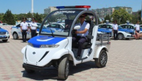 Автопарк Магнистауских полицейских пополнился новыми электромобилями